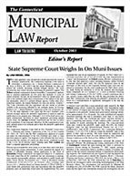 Connecticut Municipal Law Report