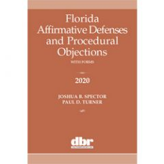 Florida Affirmative Defenses and Procedural Objections