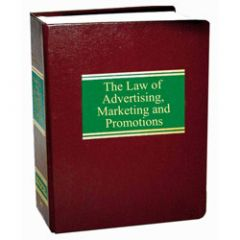Law of Advertising, Marketing and Promotions, The