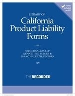 Library of California Product Liability Forms