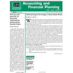 Accounting and Financial Planning for Law Firms