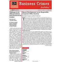 Business Crimes Bulletin