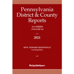Pennsylvania District and County Reports Bound