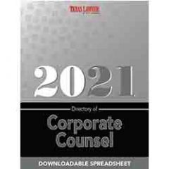 Directory of Corporate Counsel-Texas (Spreadsheet Download)